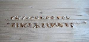 Armband met zilveren bedeltjes sieraad op maat | verjaardagscadeau | jarig | Veldjuwelen