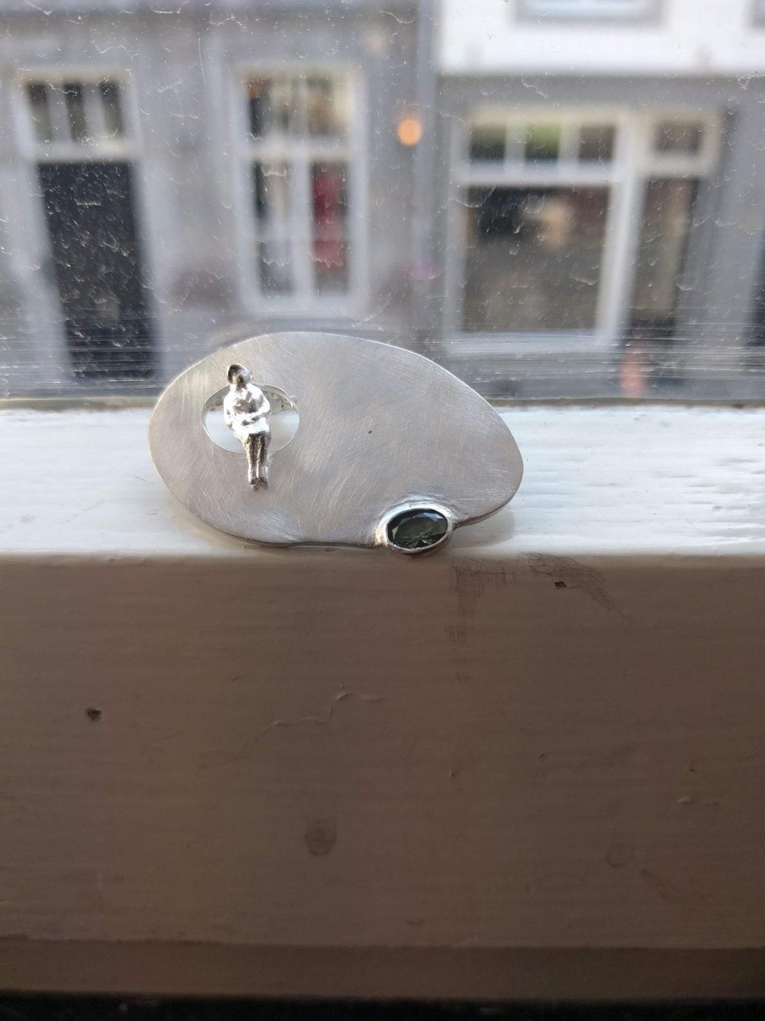 Zilveren broche sieraad op maat | Veldjuwelen