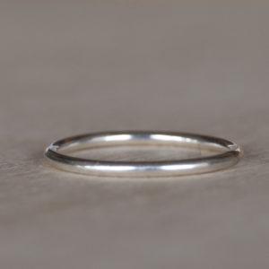 Zilveren aanschuifring | Glad