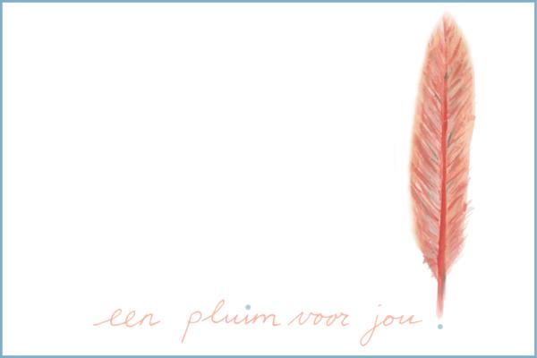 Een pluim voor jou | Ansichtkaart | 10 x 15 cm | Veldjuwelen