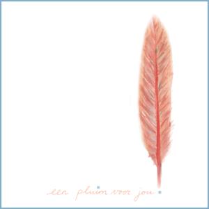 Een pluim voor jou | Ansichtkaart | 10 x 10 cm | Veldjuwelen