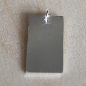 Zilveren graveer hanger | Veldjuwelen