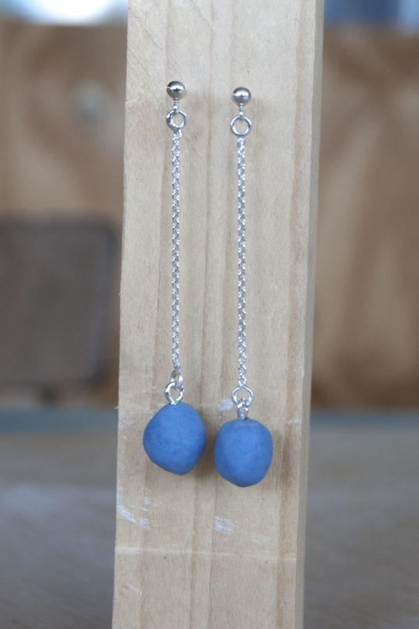 Porseleinen oorhangers | Blauw 3