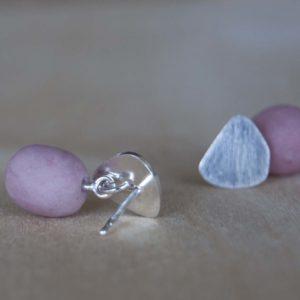 Porseleinen oorstekers | Roze 1