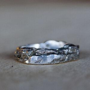 Zilver met gouden bast ring | Dwarrel - Autumn 2020 - 1