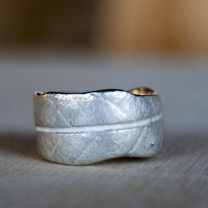 Zilveren blad ring | Dwarrel - Autumn 2020 - 1