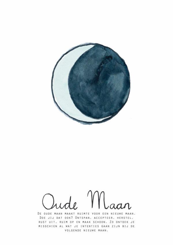 Oude maan kaart