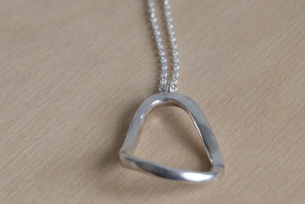 zilveren ketting met open vorm klein_3